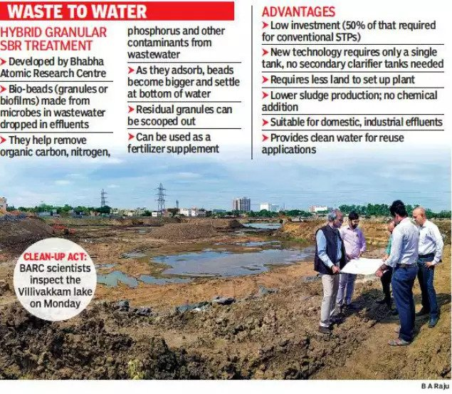 Technology to clean sewage to recharge groundwater near Villivakkam lake