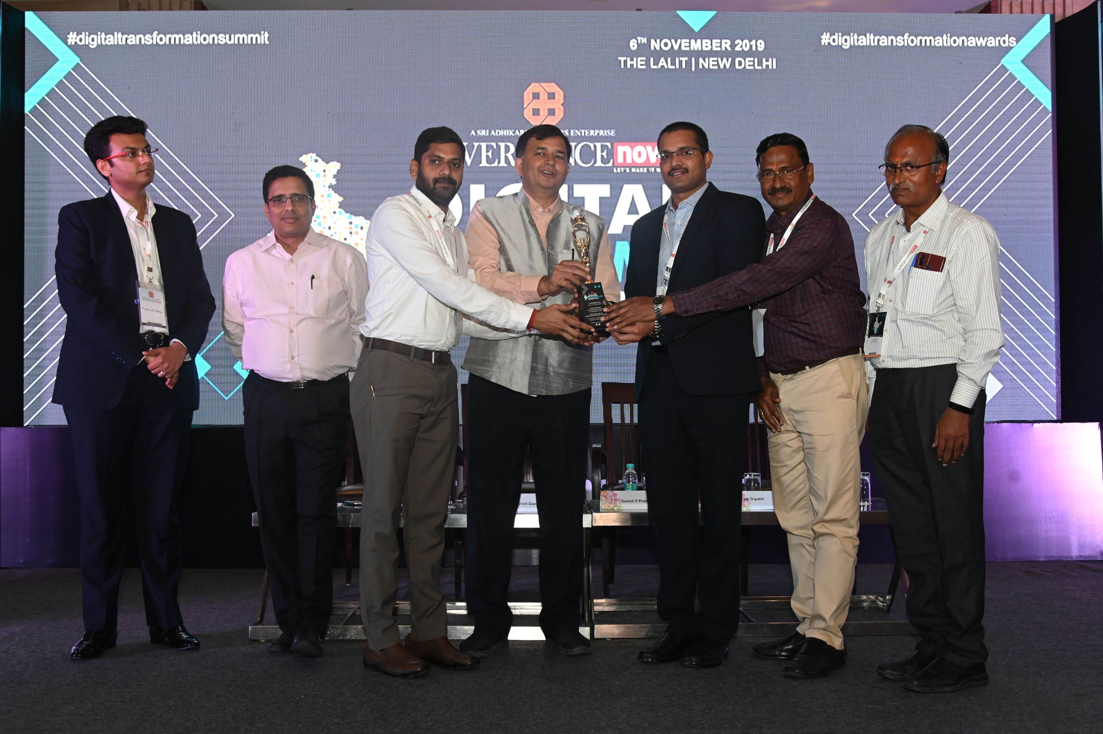 Digital Transformation Award 2019